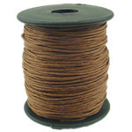 Fine Natural Waxed Cord Brown