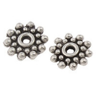 Flower Spacer Beads Antique Silver