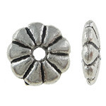 Flower Spacer Beads Antique Silver 10PCs