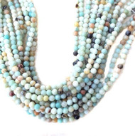 Gemstone Round Faceted Amazonite Beads 8mm