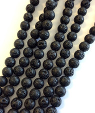 Gemstone Round natural Lava Beads