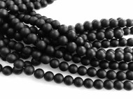 Gemstone Round natural Matte Black Onyx Beads 8mm
