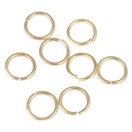 Gold Plated Round Open Jump Ring