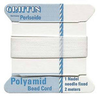 Griffin Nylon Bead Cord White 14