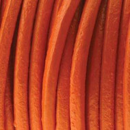 Indian Round Leather Orange 1.5mm Sold Per Yard
