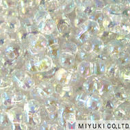 Japanese Crystal AB Peanut 2x4mm Beads 15GM