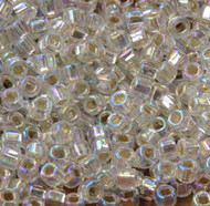 Japanese Crystal Light Junquil Silver Lined AB Glass Seed Beads 6/0