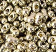 Japanese Duracoat Gal Silver Peanut 2x4mm beads