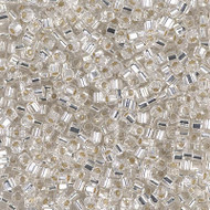 Japanesee 1.5mm Cube Crystal Glass Beads 15Grams
