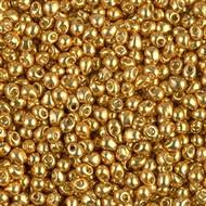 Miyuki 2.8 Mm Drop Dura Gal Gold Glass Beads 10 Grams
