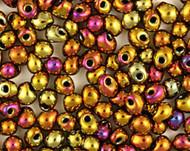 Miyuki 3.4 Mm Drop Gold Iris Beads 10 Gram