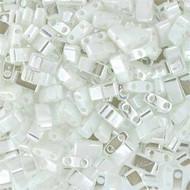 Miyuki Half Tila White Pearl 10Gm Bag