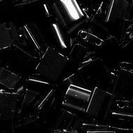 Miyuki Japanese Tila 2 Hole Black Glass Seed beads