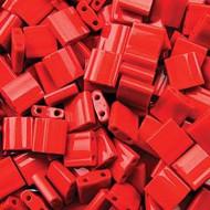 Miyuki Tila Japanese Bead 5mm Opaque Red 10 Gram