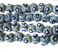 12 PCS Recycled Glass Ghana African handmade Natural Beads