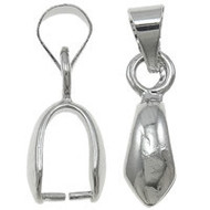 Simple Pinch Silver Plated Bail 1 PC