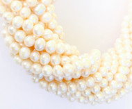 Genuine natural Ivory  Freshwater Pearl Beads