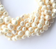 Genuine natural LT Cream Luster Freshwater Pearl Beads 10x8mm