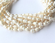 Rice Shape Genuine natural Freshwater Pearl Beads