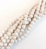 6mm fine genuine white Turquoise Gemstone Beads