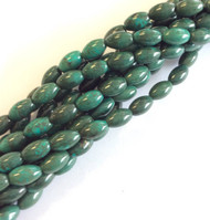 fine genuine oval African turquoise Gemstone Bead