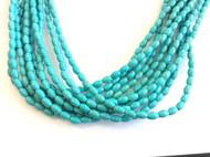 fine genuine blue Oval magnesite Gemstone Beads