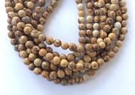 47 Perfect Picture Jasper Round Gemstone Beads