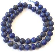 46 Natural Round matte Lapis Lazuli Gemstone beads Beading Supplies