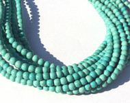 67 Fine turquoise round gemstone beads- Beading Supplies