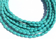 53 Fine turquoise Rice/Oval Shape gemstone beads- Beading Supplies