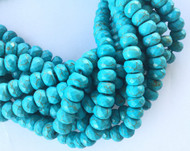 64 Med Hole Turquoise Faceted Rondelle Gemstone beads Stone-Beading Supplies