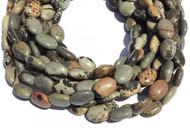 29 Natural Willow Creek Jasper Flat Oval Gemstone beads Stone