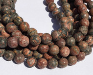 12mm Natural Leopard Skin Jasper round Gemstone beads Stone