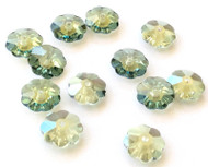 10mm Viridian Preciosa Czech Crystal Flower Beads