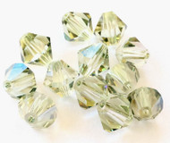 8mm  Viridian Preciosa Czech Crystal Bicone Beads