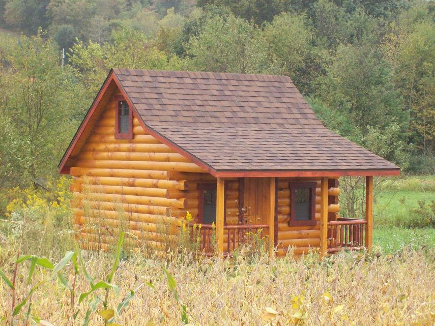 10x14 Pioneer Log Cabin