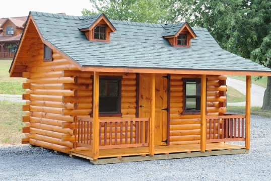 Log cabin photo gallery sunrise log cabins wayside for Log cabin garages for sale