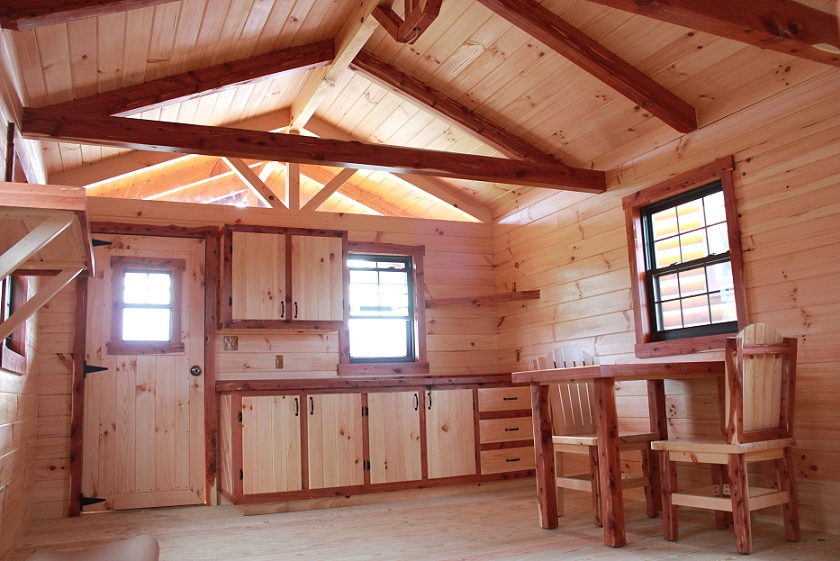 Log Cabin Photo Gallery on Interior Deluxe Lofted Barn Cabin Floor Plans