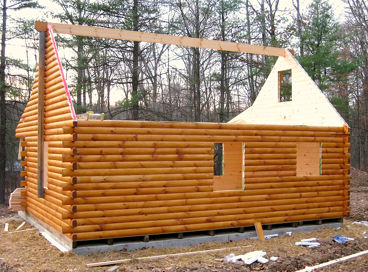 Amish Built Log Cabin to Freedom, PA