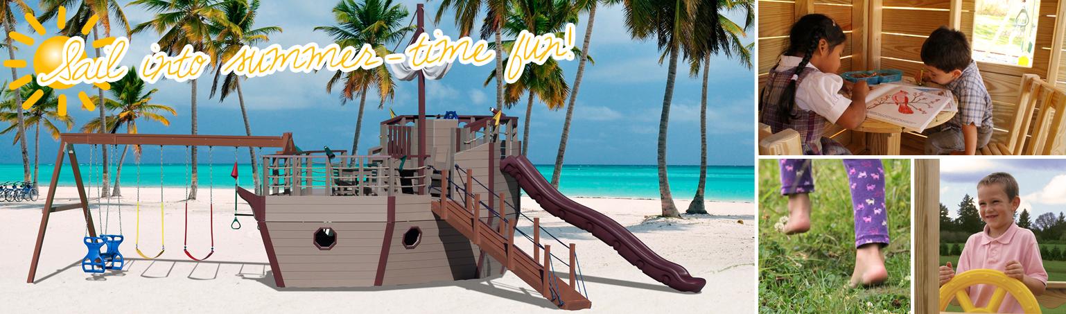 Summer fun Poly Ship Playset