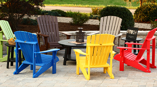 Poly Outdoor Furniture at Wayside Lawn Structures in Ohio