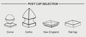 Vinyl post caps