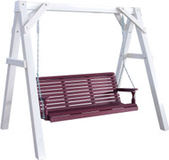 White Swing Stand shown with 5' Poly Plain Swing.  Swing is not included!