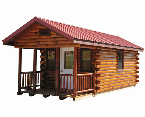 Hunter log cabin wayside lawn structures for Log cabin financing