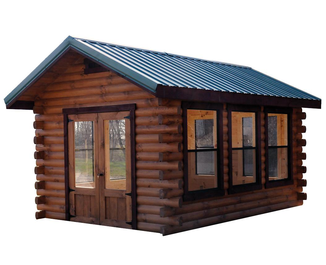 Camper log cabin wayside lawn structures for Log cabin financing