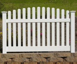 Wide Scalloped Picket Fence
