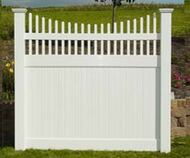 Solid Privacy With Picket Accent