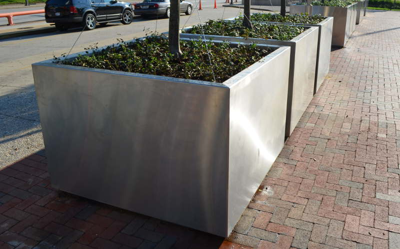 World Trade Center City Street Stainless Steel Planters