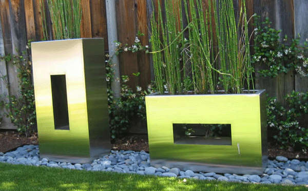 Stainless Steel Planters Window Box Style