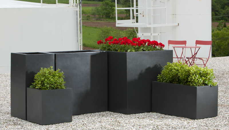 Modular lite tall rectangle privacy planter for Tall planters for privacy